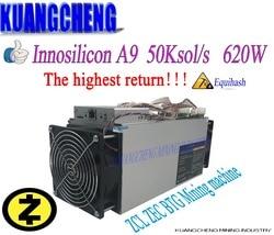 Oude 90% nieuwe Innosilicon Equihash A9 ZMaster asic Miner 50 K/s 620 W Zcash BTG Intelligente miner Beter dan antminer z9 S9 T9 mijnwerker