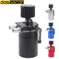 Dasbecan baffled Aluminum 3 port Oil Catch Can Reservoir / Tank Universal colourful With extra Filter