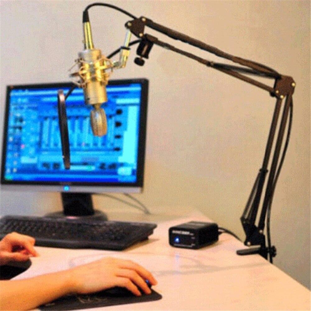 Ehrlich Erweiterbar Aufnahme Mikrofon Halter Metall Einstellbare Broadcast Studio Mikrofon Mic Suspension Boom Scissor Arm Steht Clip QualitäT Und QuantitäT Gesichert Unterhaltungselektronik