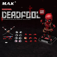 For collection Beast Kingdom EAA 065 6 inches 17cm Comic version Deadpool Action figure doll toy Collections