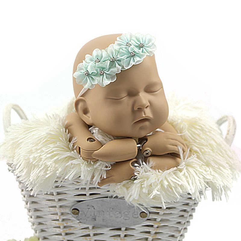 Хлопок Обёрточная бумага + повязка на голову, эластичные вязаные накидки новорожденных-фотография-реквизит одеяло аксессуары для волос ребенка гамак Опора наполнитель