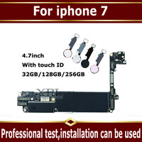 Original unlocked for iphone 7 Motherboard With Touch ID/ Without Touch ID,for iphone 7 Mainboard With Chips Logic board