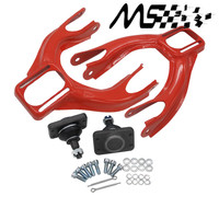Iron Adjustable (L&R) Front Upper Control Arm Camber Kit For HONDA CIVIC EG 92 95 RED FRONT UPPER CAMBER ARM KIT