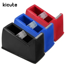 kicute beat promotion 2 inch heavy duty packing plastic office adhesive tape dispenser cutter desktop office school stationery