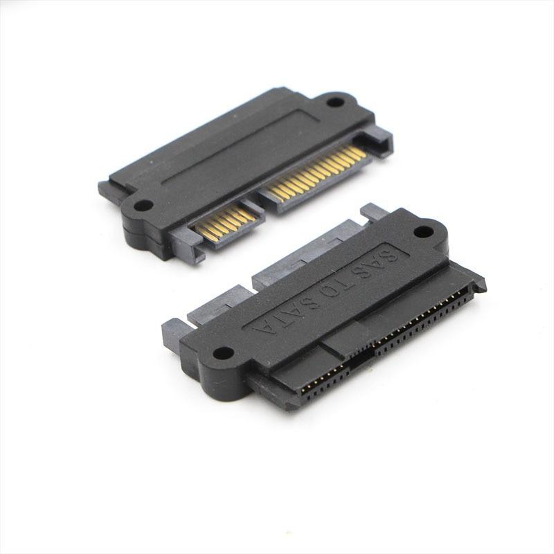 SAS 29Pin Female to SATA 22Pin Male Plug Adapter Converter Connector for Windows XP / 7/8/10
