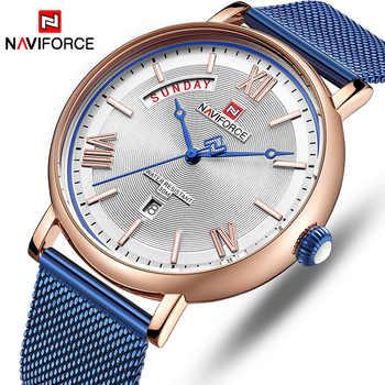 NAVIFORCE Watch Men Fashion Business Watches Men\'s Casual Waterproof Quartz Wristwatch Blue Steel Mesh Clock Relogio Masculino - DISCOUNT ITEM  90 OFF Watches