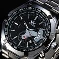 2016 Nova Marca SEWOR Skeleton Mechanical Assista Homens de Luxo Em Aço Inoxidável Relógios dos homens Do Exército Legal Caso Relógio Relogio masculino