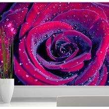 Custom photo wallpaper Red Rose 3D