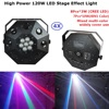 4XLot DJ Lighting Projector 8X3W CREE LED Lamp 7X10W RGBW 4IN1 Professional LED Dancing Floor Lights