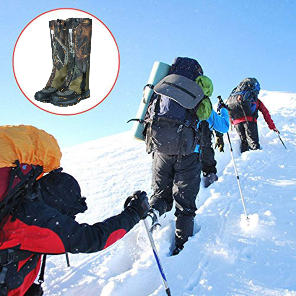 Unisex Waterproof Legging Leg Cover Gaiter Hiking Camping Snow Ski Boot Shoe Travel Hunting Climbing Windproof Leggings