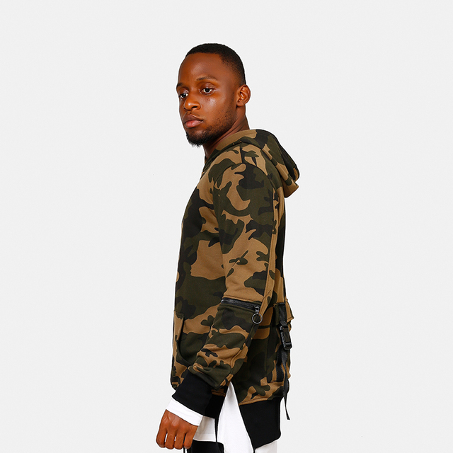 New Arrival Men High Street Camouflage Hoodie