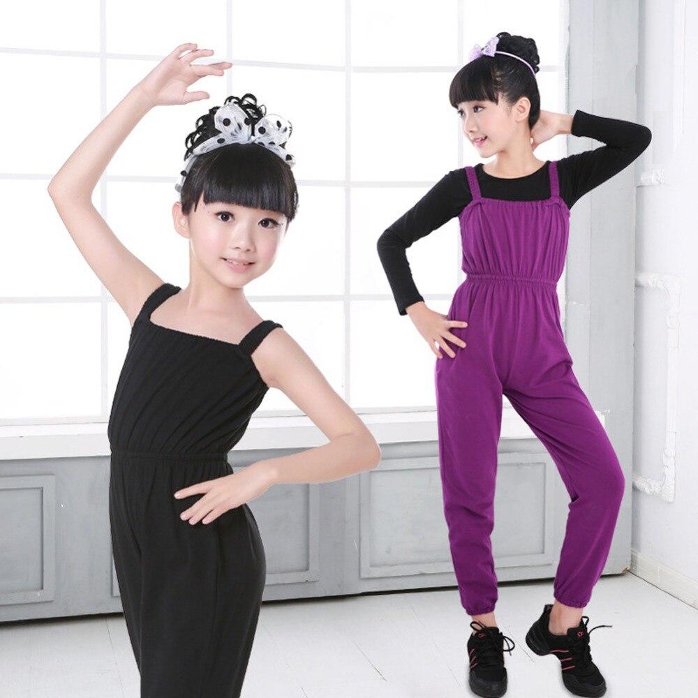 100% Kwaliteit Meisje Gymnastiek Dance Totale Volledige Lengte Ballet Dancewear Jumpsuit Broek Dagelijkse Slijtage Kleding Set