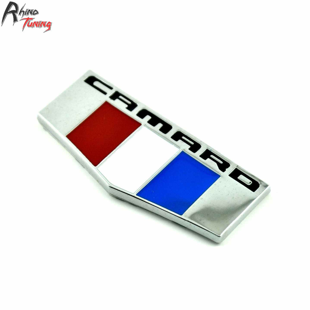 Rhino Tuning Car Emblem Auto Styling Sticker Metal Badge Decal For CAMARO RS Z28 SS 688 fr metal car stickers emblem badge for seat leon fr cupra ibiza altea exeo formula racing car accessories car styling