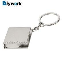 DIYWORK Key Ring Gauging Tools Pull Ruler Portable Tape Meas