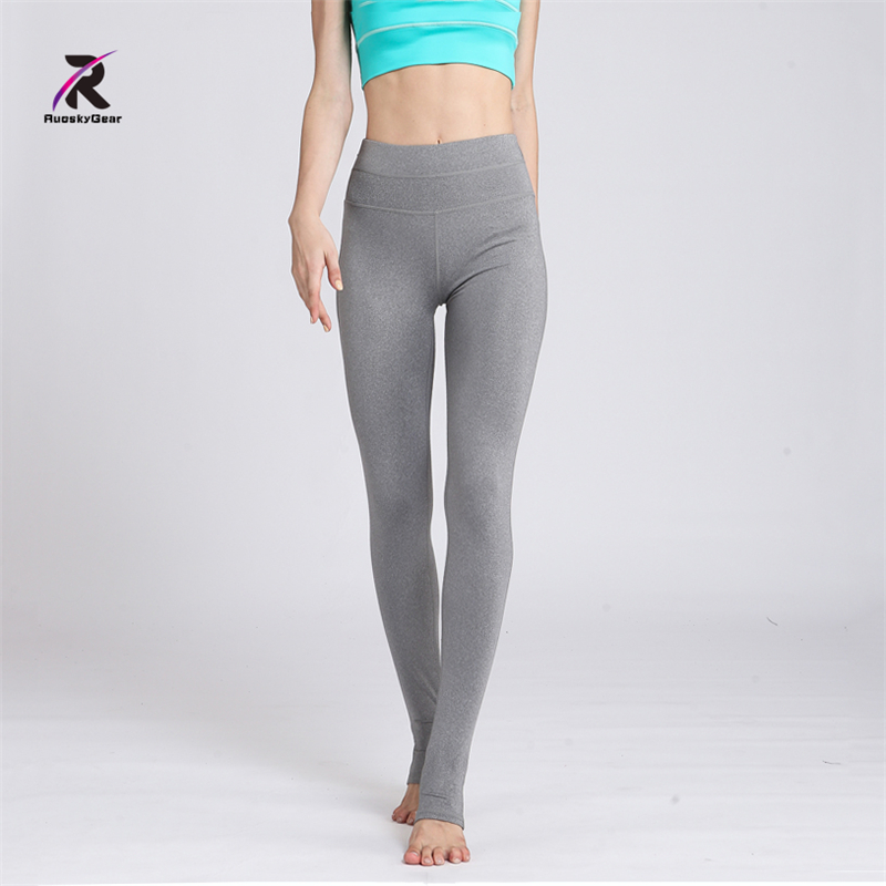 Yoga Leggings Fitness Running Pants Women High Waist Thick Elastic Sports Trousers Gym Femme Sexy Hip Push Up Leggings Free Ship