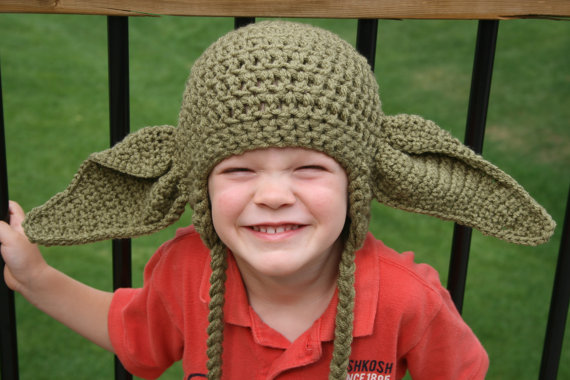 Inspired Star Wars Hats Crochet Yoda Hat Star Wars Inspired Yoda