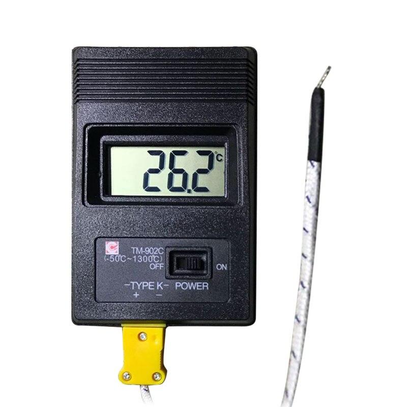 TM-902C (-50C to 1300C) Temperature Meter TM902C Digital K Type Thermometer Sensor + Thermocouple Probe detector
