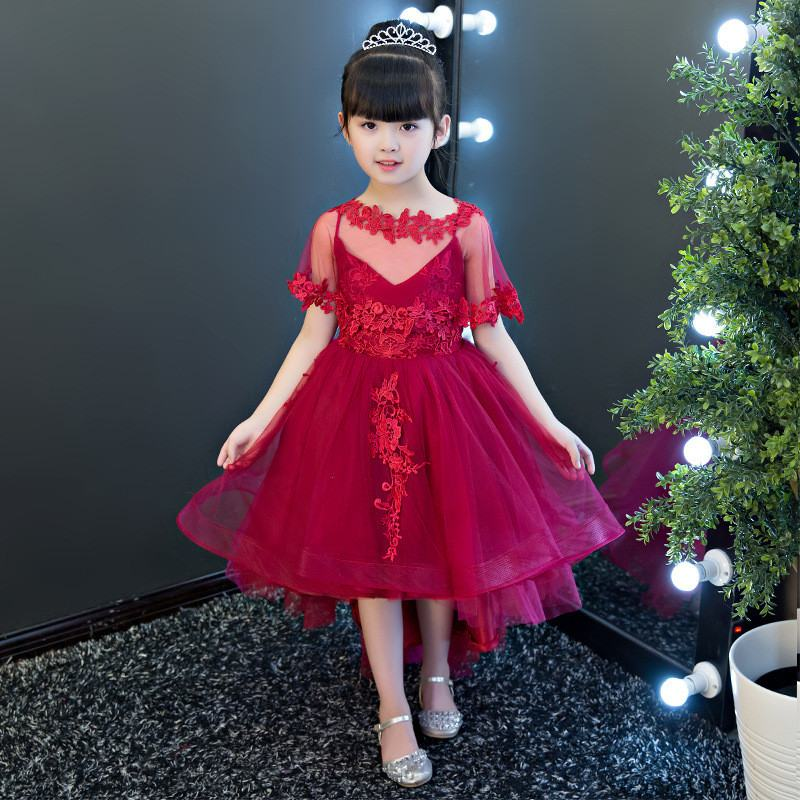 2019 New Children Girls Mesh Lace Flowers Princess Dress Kids Dresses For Girls Wedding Party Toddler Girl Clothing Vestidos F392019 New Children Girls Mesh Lace Flowers Princess Dress Kids Dresses For Girls Wedding Party Toddler Girl Clothing Vestidos F39