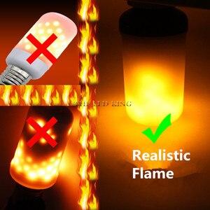 2019 E27 Led Flame Lamps Fire Effect Light Bulb 220V 110V Led Fire Bulb Effect Flickering Emulation Flame Light Lampada(China)