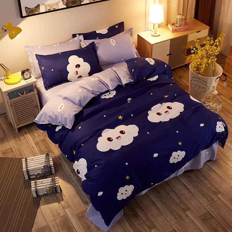 Cloud 4pcs Girl Boy Kid Bed Cover Set Duvet Cover Adult Child Bed Sheets And Pillowcases Comforter Bedding Set 2TJ-61017