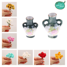 Furniture-Sets Craft Vase Doll-House Christmas-Gift Access Gardening for Toy Plastic