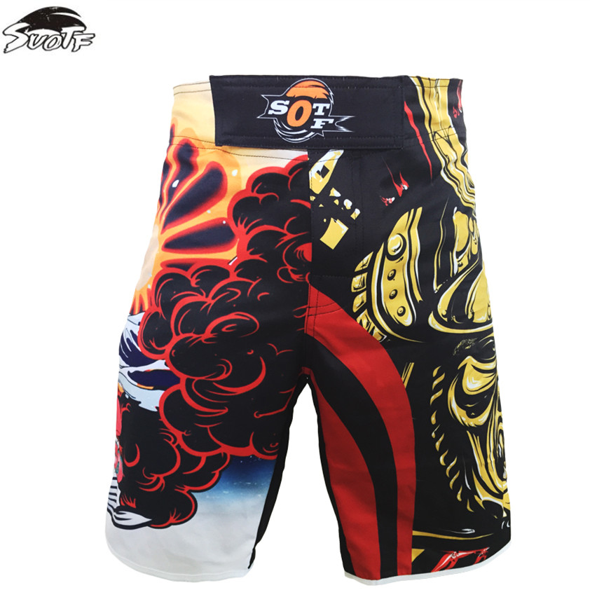 MMA Fighting Bad Boy Red /& Black Breathable Sports Tiger Muay Thai Shorts Trunks