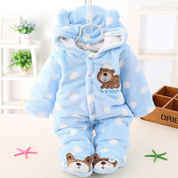 2017 Baby Rompers Winter Warm Baby Boy Clothes Cotton Thicken Newborn Next Overalls Baby Girl Clothing