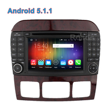 Quad core Android 5.1.1 Car DVD Radio Player GPS for Mercedes/Benz W215 W220 S280 S320 S350 S400 S420 S430 S450 S500 S550 S600