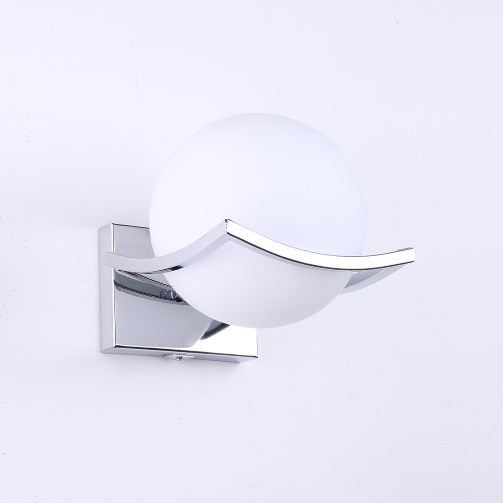 Unique and novelty led wall lamps glass ball wall lights for home E27 AC90V 260V