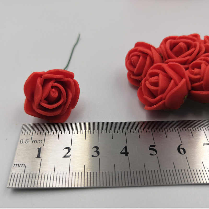 36/72/144 sztuk 2cm dekoracyjne miś Rose pianka pe sztuczny bukiet kwiatów dla domu dekoracje ślubne DIY wieniec sztuczny kwiat