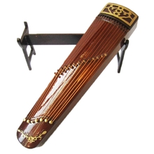 Mini Guzheng Model Chinese Traditional Zither Musical Instrument Collection Decorative Ornaments Model Gift With Case Stand цена и фото