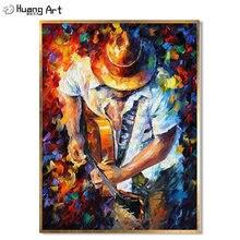 Лидер продаж ручная роспись красивый ковбойский человек играющий