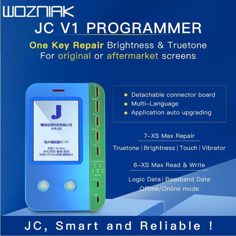 JC V1 pour iphone 7/7 P/8/8 P/X/XR/XS/XS Max programmeur tout-puissant de puce logique de bande de base de choc de couleur originale photosensible