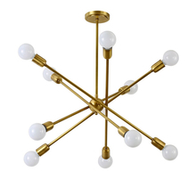 Simple modern led chandelier Lighting copper 10 arm hanging lamp two layer E27 light Suspendsion light dining room bedroom цена