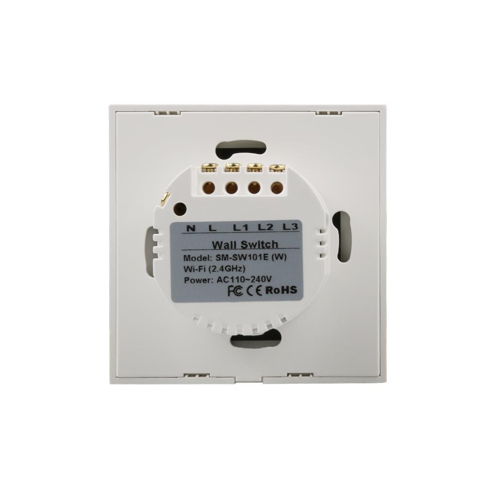 Wifi Smart Home Switch AC 110V 220V 3 Way Wall Light Remote Control ...