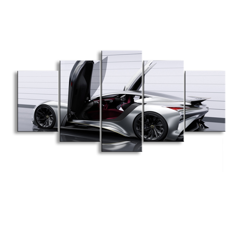 5 pieces high-definition print sports car canvas oil painting poster and wall art living room picture C5-2