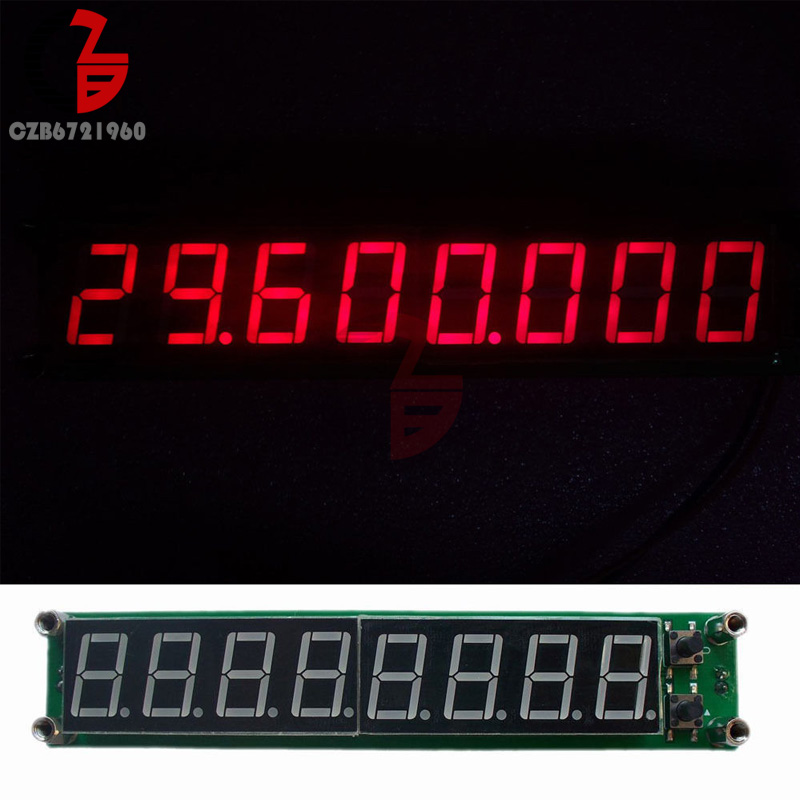 0.1-60MHz 20MHz-2.4GHz RF Singal Frequency Counter Tester red 8 LED Meter Measurement Module FOR Ham Radio Amplifier