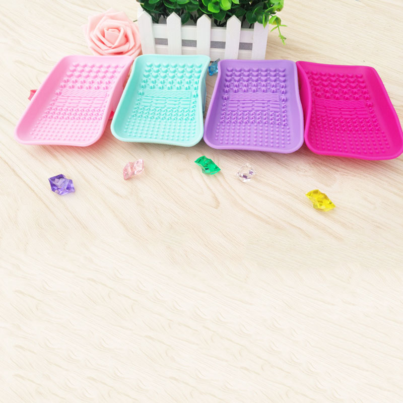 Silicone Brush Cleaning Tools Soap Dish Shape Cosmetics Cleaner Washing Brushes Cleansers (10)