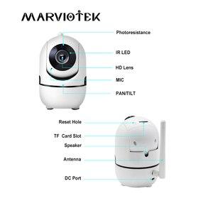 Image 2 - 1080P كاميرا IP لاسلكية واي فاي ذكي السيارات تتبع الإنسان كاميرا صغيرة HD أمن الوطن شبكة كاميرا تلفزيونات الدوائر المغلقة مراقبة الطفل 3MP