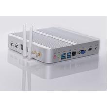 Intel Core i3 5005U Mini PC Windows 10 Кабы Lac Безвентиляторный Ordinateur avec 4 К HD Graphics 4400/5500 300 М Wifi VGA HDMI TV серебро