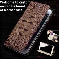 JC04 Genuine Leather Flip Case For Huawei P Smart Phone Case For Huawei Enjoy 7S Leather Cover free shipping