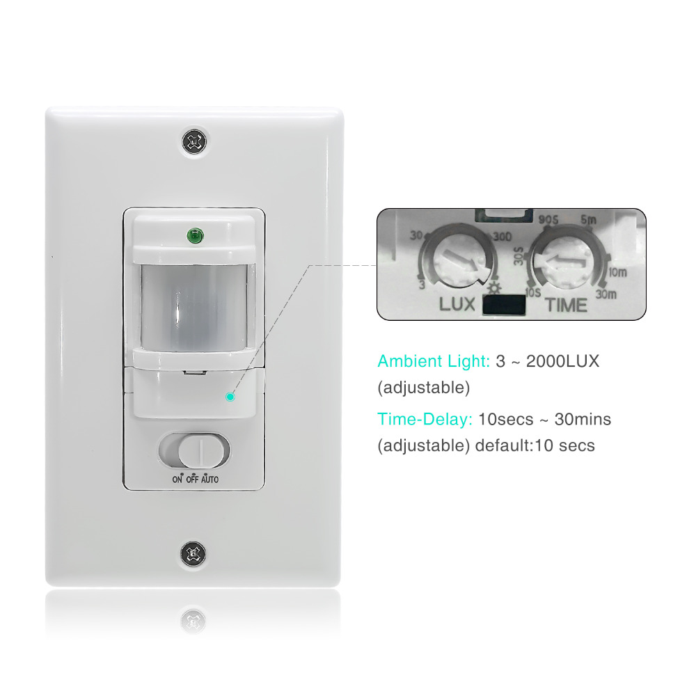 110v 220v Ac On Off Auto Wall Mount Motion Sensor Switch Automatic Pir Infrared Light With Control In Switches From Lights