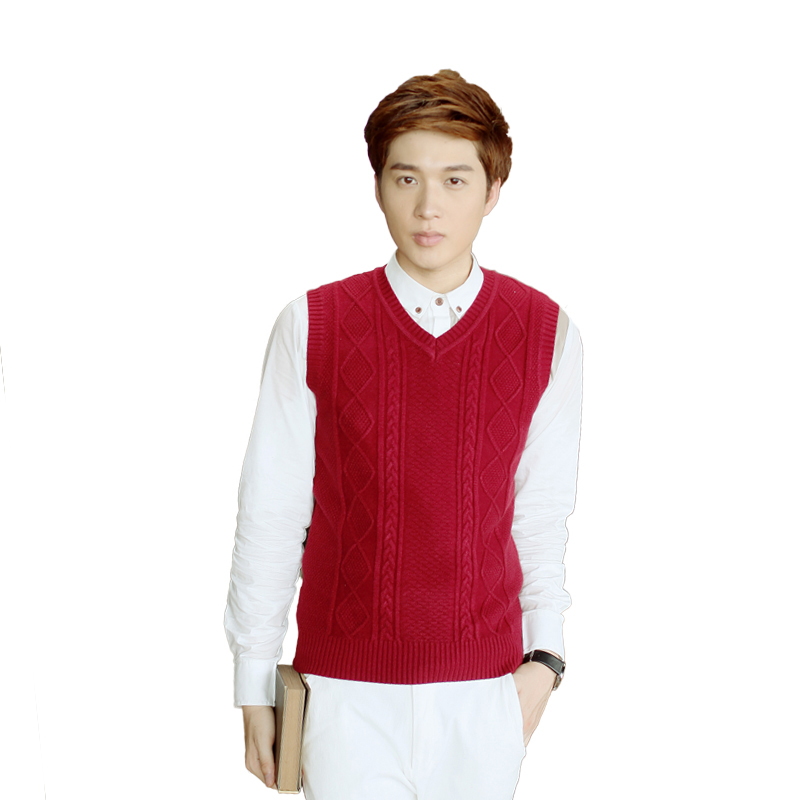 Brand Clothing Men Solid Pullover Sweaters Vest Knitwear Casual ...