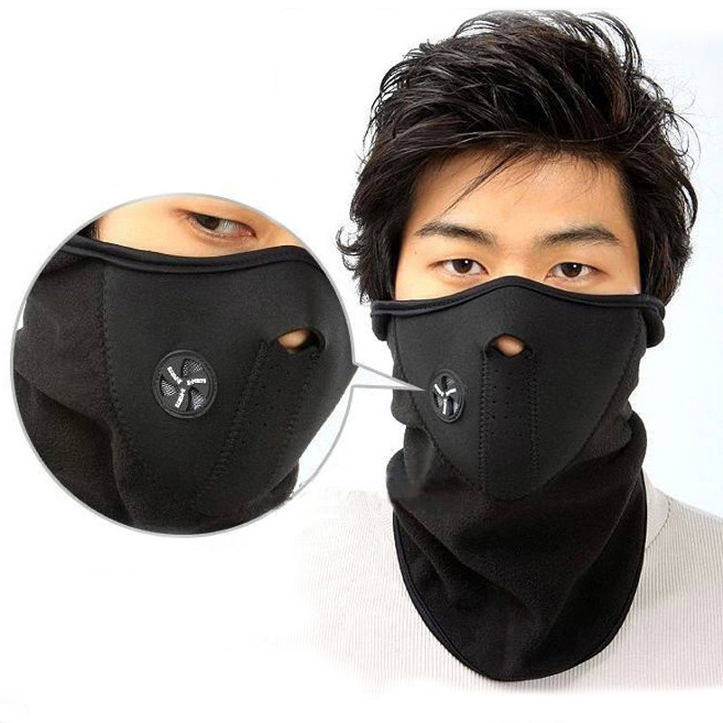 Bike Half Face Cover Hood Protection Ski Cycling Sports Outdoor Winter Warm Neck Guard Scarf Earmuffs H9