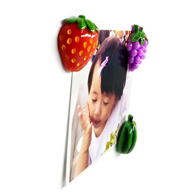 1pc Fruit Mangosteen Carambola Fridge magnet whiteboard sticker Resin Refrigerator Magnets child Home DIY Decoration Accessories 3
