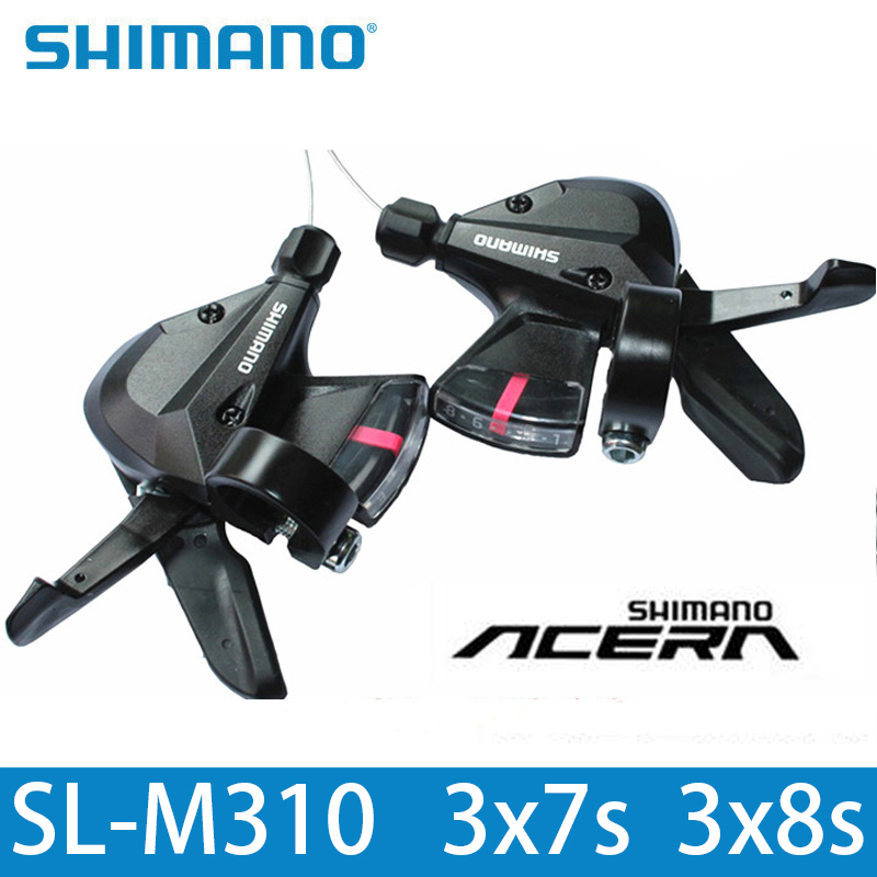SHIMANO SL M310 Shifter SL-M310 3x8 3x7 21 24 Speed Shifter Trigger Set Rapidfire Plus Shifter Cable Bike Hot Run все цены