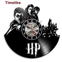 2018 Hot Vinyl Record Wall Clock Theme Art Watch Clock  Black Duvar Saati Home Decorative