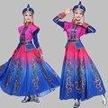 Mongol Traje performance de Palco roupas de Dança saia vestido de Traje de Dança Mongol dança folclórica Roupas Minoria Vestuário
