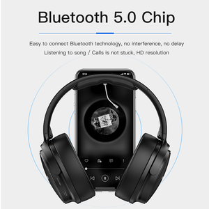 Image 2 - AWEI A780BL Wireless Headphone Bluetooth 5.0 Earphone With Microphone Deep Bass Gaming Headset Support TF Card For iPhone Xiaomi