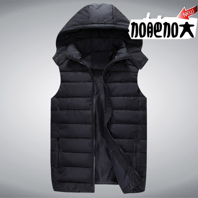 The new winter vest men Plus-size cotton VEST easing down extra large cotton Warm vest 2XL-6XL CHEST 120-140CM